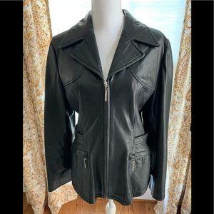 Nine West vintage leather jacket